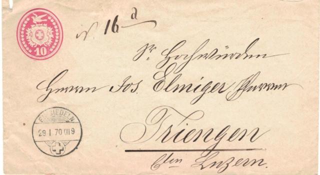 Tübli-Briefe 10 Rappen, Frankatur links oben Tzbli_12