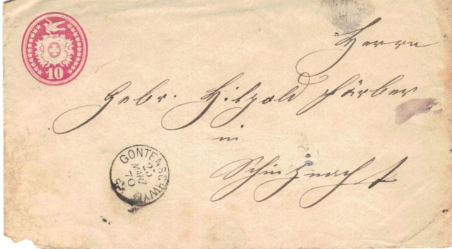 Tübli-Briefe 10 Rappen, Frankatur links oben Tzbli_13