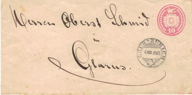 Tübli-Briefe 10 Rappen, Frankatur rechts oben Tzbli_14
