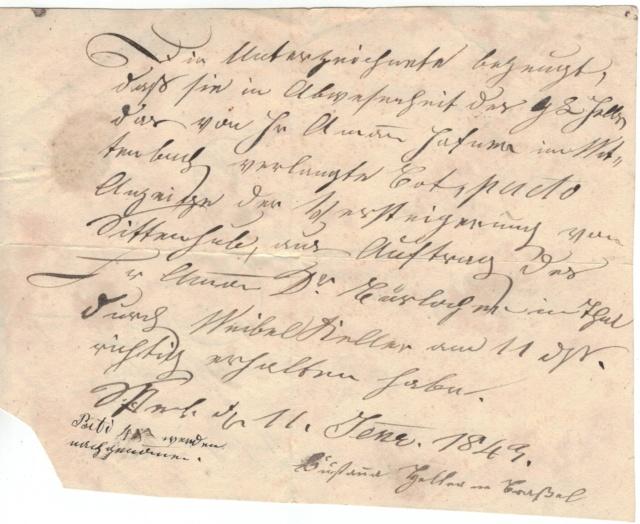 Rheineck nach Wittenbach SG am 24. Jan. 1843 Vorphi11