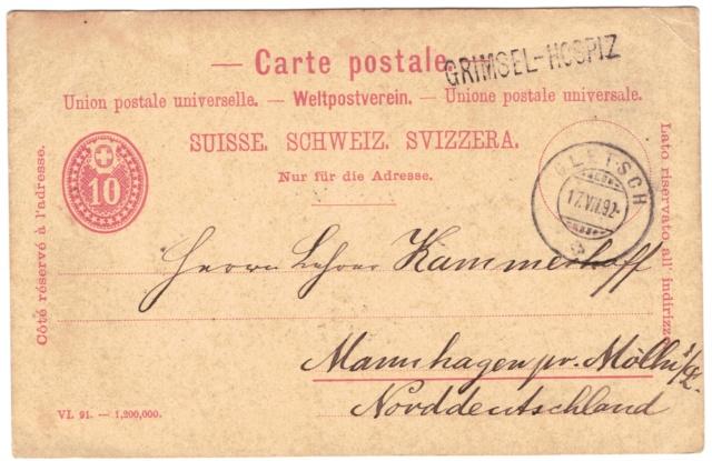 Ganzsachenpostkarten - Ausgaben 1870 bis 1899 Weltpo10