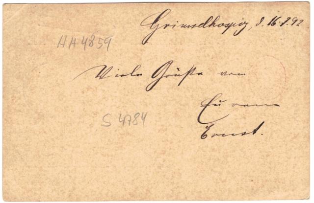Ganzsachenpostkarten - Ausgaben 1870 bis 1899 Weltpo11