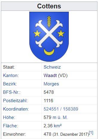 Cottens VD - 478 Einwohner Zi109