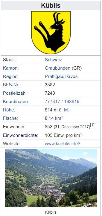 Küblis GR - 853 Einwohner Zi115
