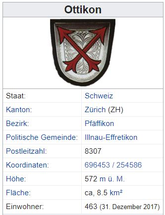 Ottikon bei Kemptthal ZH - 463 Einwohner Zi119