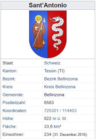 Sant'Antonio TI - 234 Einwohner Zi125