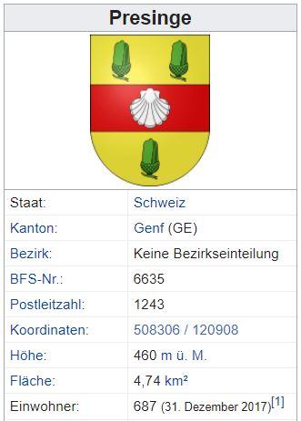 Presinge GE - 687 Einwohner Zi129
