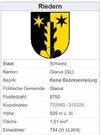 Riedern GL - 734 Einwohner Zi136