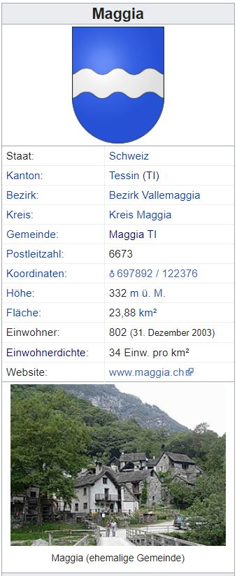 Maggia TI - 802 Einwohner Zi14