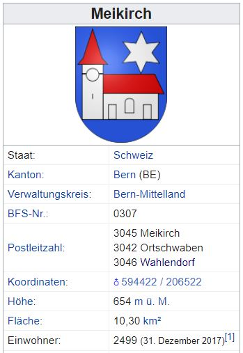 Wahlendorf (Meikirch) BE - xxx Einwohner Zi15