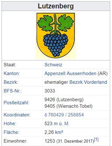 Wienacht-Tobel (Lutzenberg) AR - xxx Einwohner Zi18