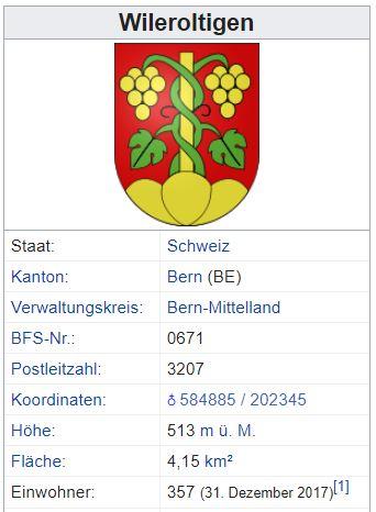 Wileroltigen BE - 357 Einwohner Zi19