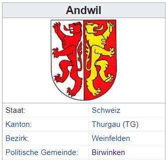 Andwil TG - xxx Einwohner Zi21
