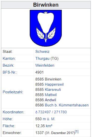 Andwil TG - xxx Einwohner Zi22