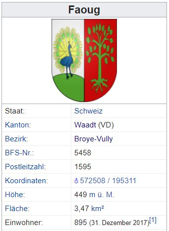 Faoug VD - 895 Einwohner Zi25