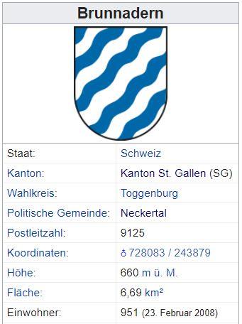 Brunnadern SG - 951 Einwohner Zi30