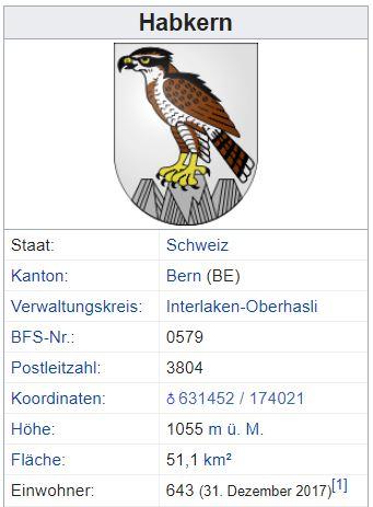 Habkern BE - 643 Einwohner Zi39