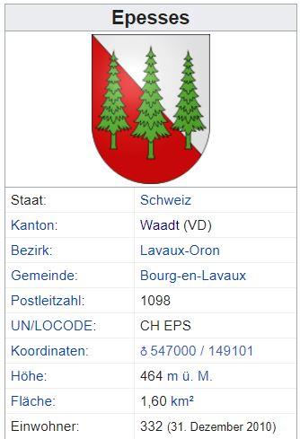 Epesses VD - 332 Einwohner Zi46