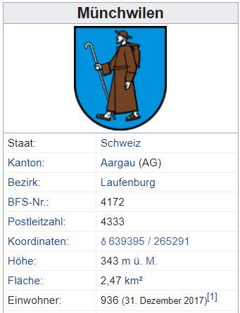 Münchwilen AG - 936 Einwohner Zi47