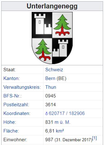 Unterlangenegg BE - 987 Einwohner Zi48