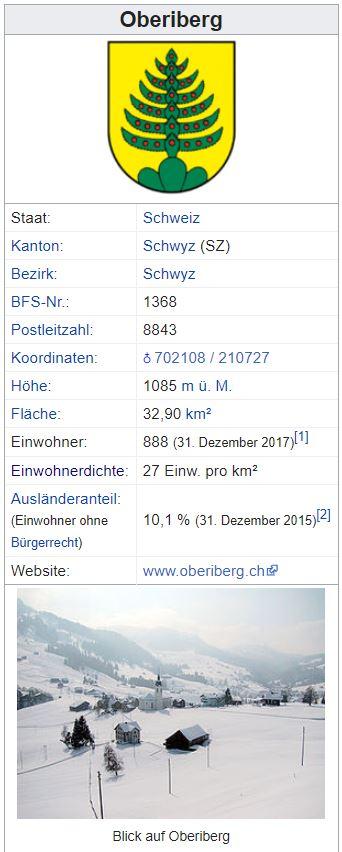 Oberiberg SZ - 888 Einwohner Zi54