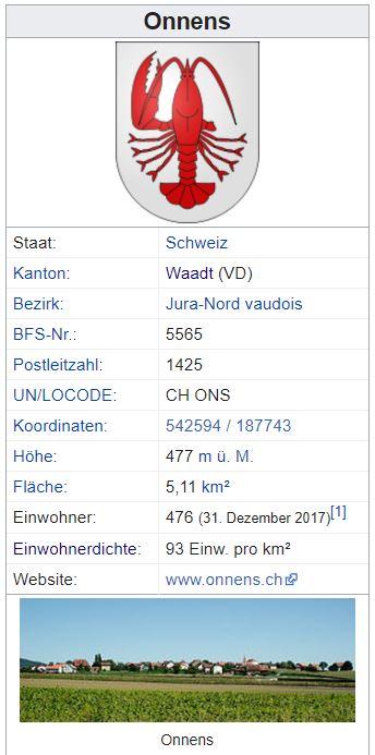 Onnens VD - 476 Einwohner Zi57