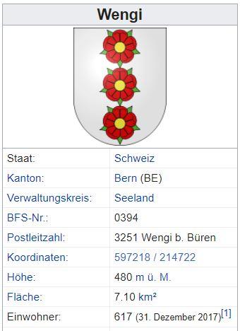 Wengi bei Büren a. d. Aare BE - 617 Einwohner Zi59