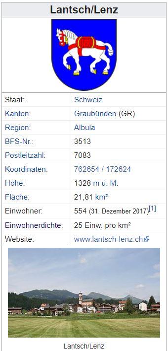 Lantsch/Lenz GR - 554 Einwohner Zi62