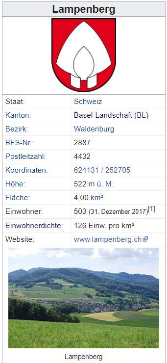 Lampenberg BL - 503 Einwohner Zi66