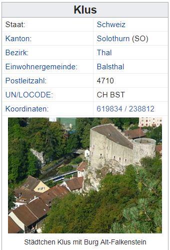 Klus (Balsthal) SO - xxx Einwohner Zi78
