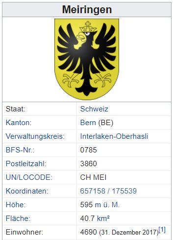 Unterbach (Meiringen) BE - xxx Einwohner Zi80