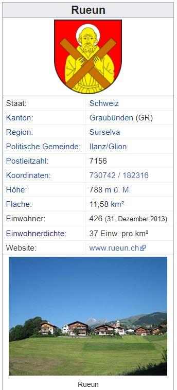 Rueun GR - 426 Einwohner Zi81