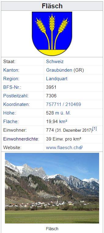 Fläsch GR - 774 Einwohner Zi86
