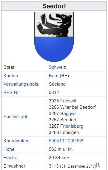 Wiler b. Seedorf BE - xxx Einwohner Zi90
