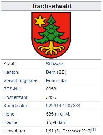 Trachselwald BE - 961 Einwohner Zi92