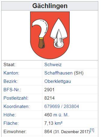 Gächlingen TG - 864 Einwohner Zi96
