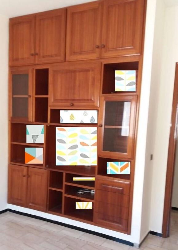 Déco chambre d'enfant avec placard bois verni Chambr11