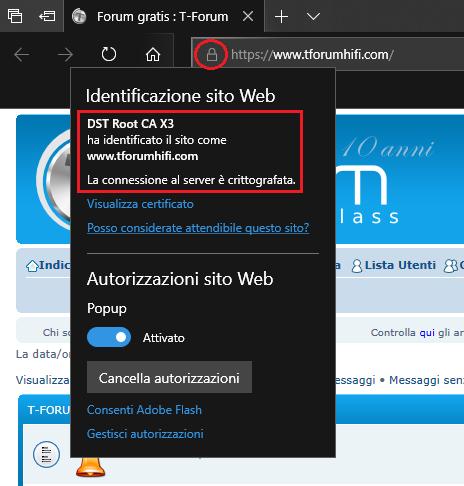 Protocollo sicuro (HTTPS) attivo Immagi15