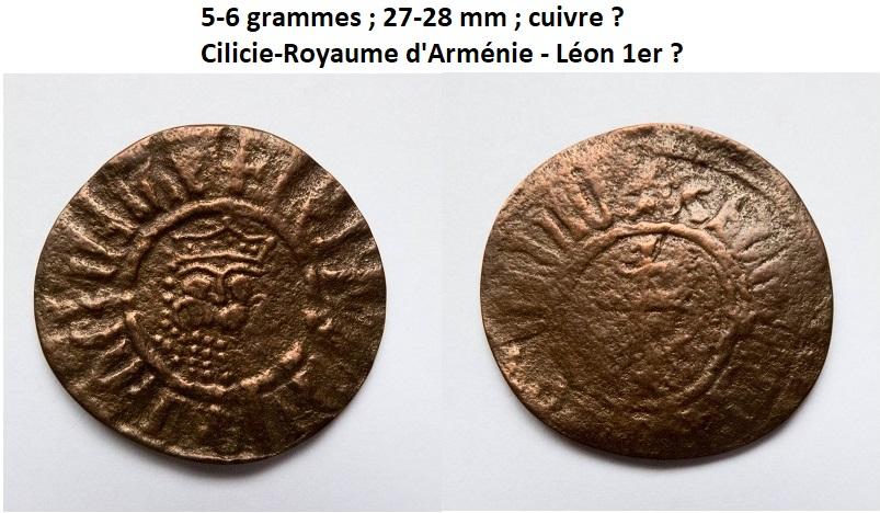 Monnaie en cuivre du Royaume arménien de Cilicie (Léon 1er) ? Cilici10