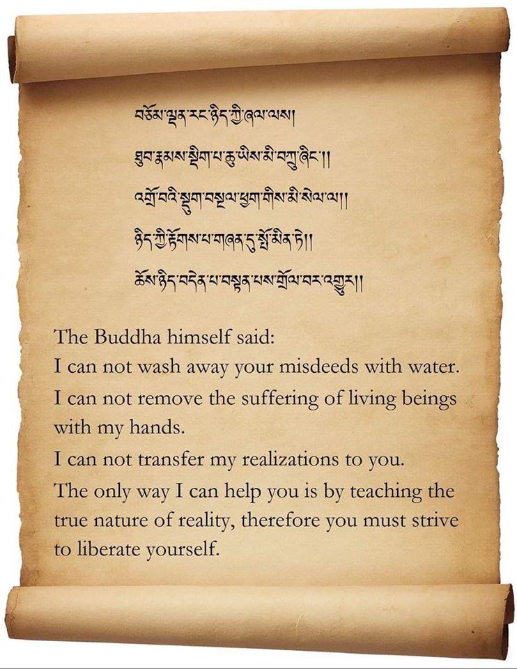 The Bouddha himself said ( un petit rappel de Ken Holmes) Even_d10