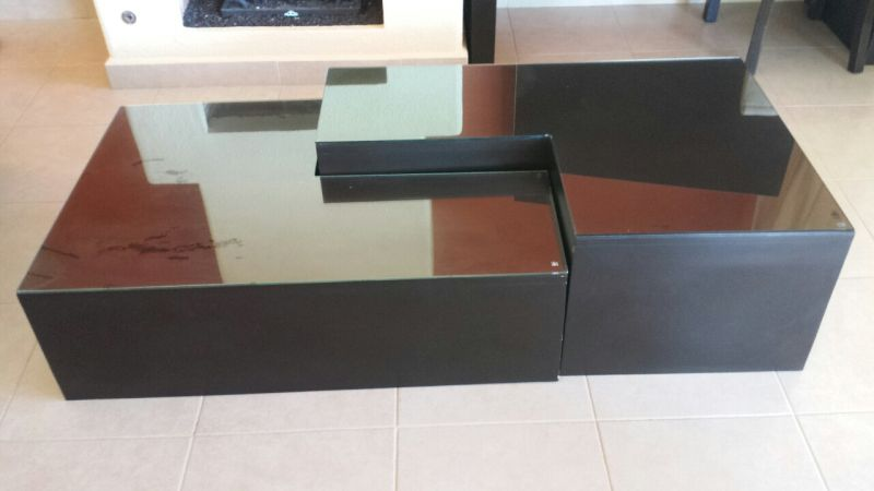Various black contemporary furniture for sale Lr_tab10
