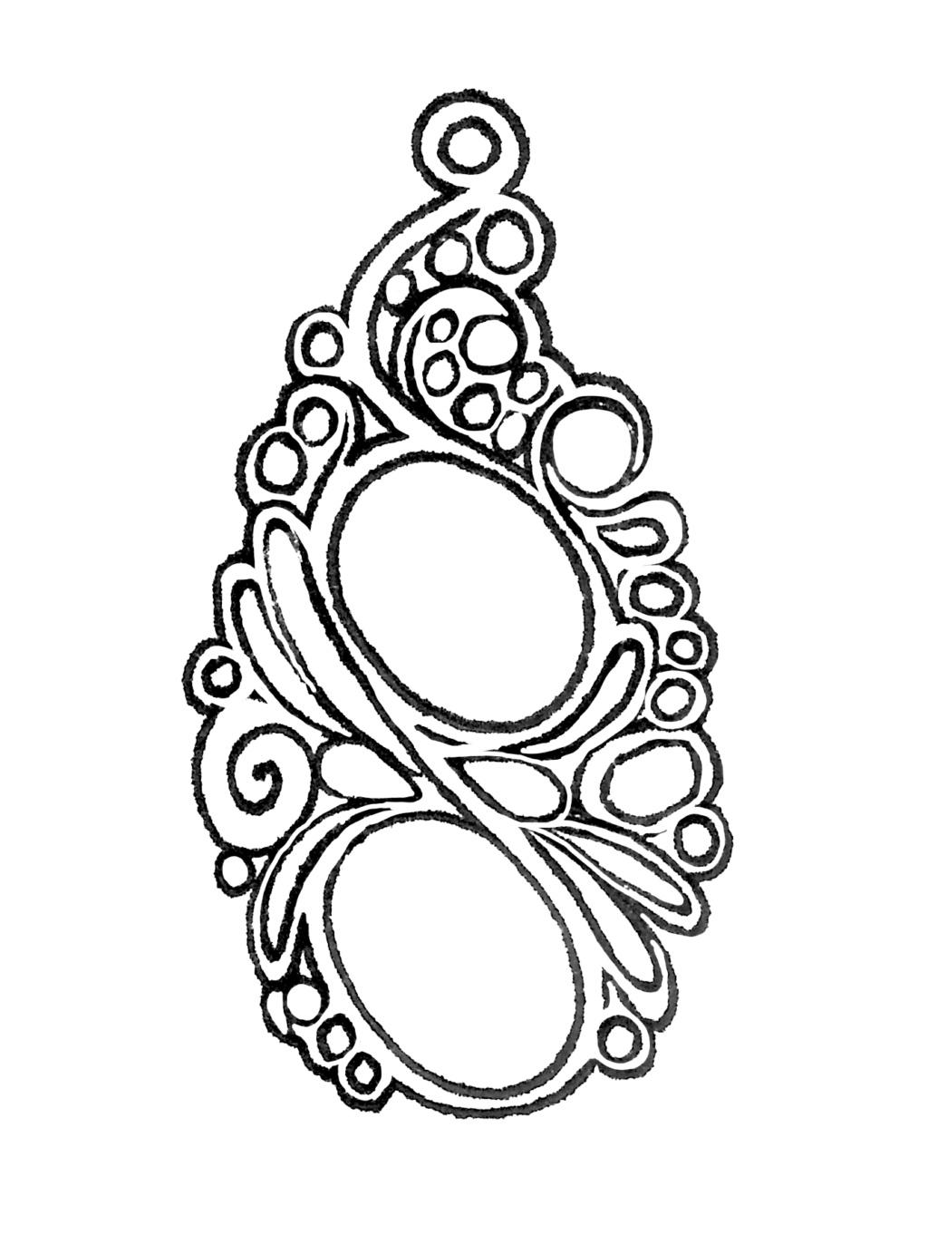 TRANSFÉRER sur métal un motif imprimé au JET D'ENCRE Bijou_10