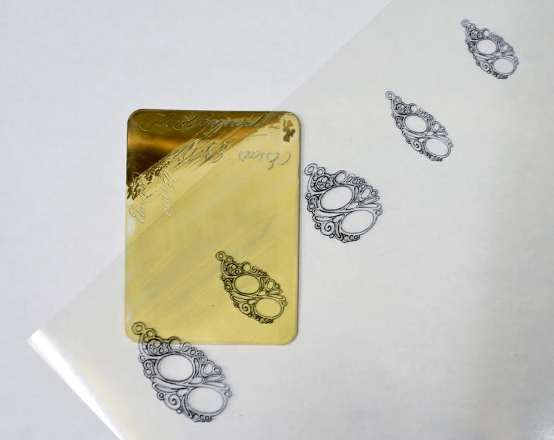 TRANSFÉRER sur métal un motif imprimé au JET D'ENCRE Impres10
