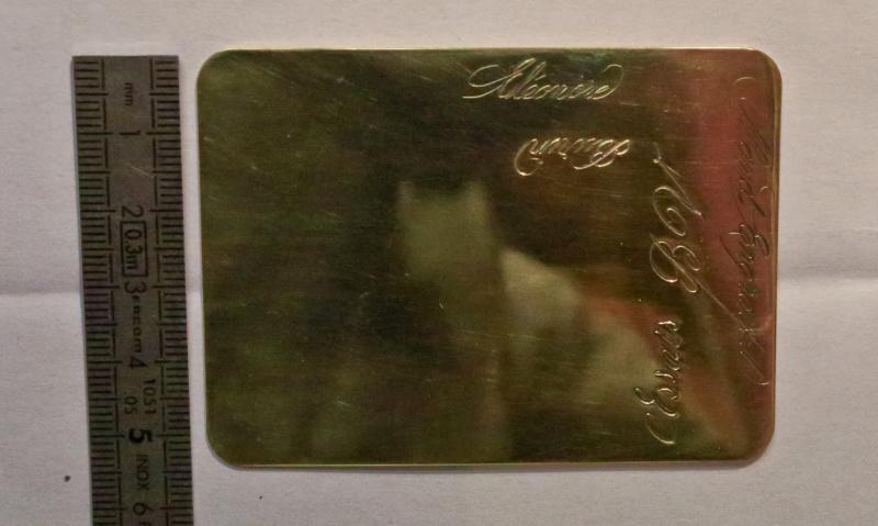 TRANSFÉRER sur métal un motif imprimé au JET D'ENCRE Plaque10