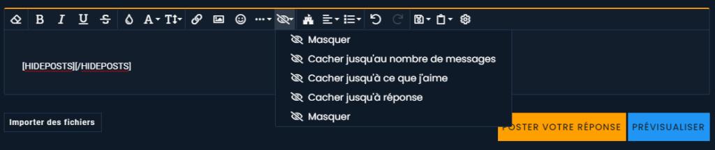 [BESTOF] [PHPBB2]Cacher du contenu aux membres n'ayant pas assez de messages avec les balise hide Captur10