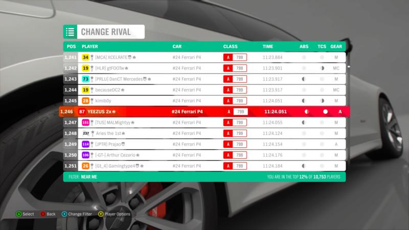 FH4 Time Attack | Road Racing - The Goliath - #24 Ferrari P4 15473410