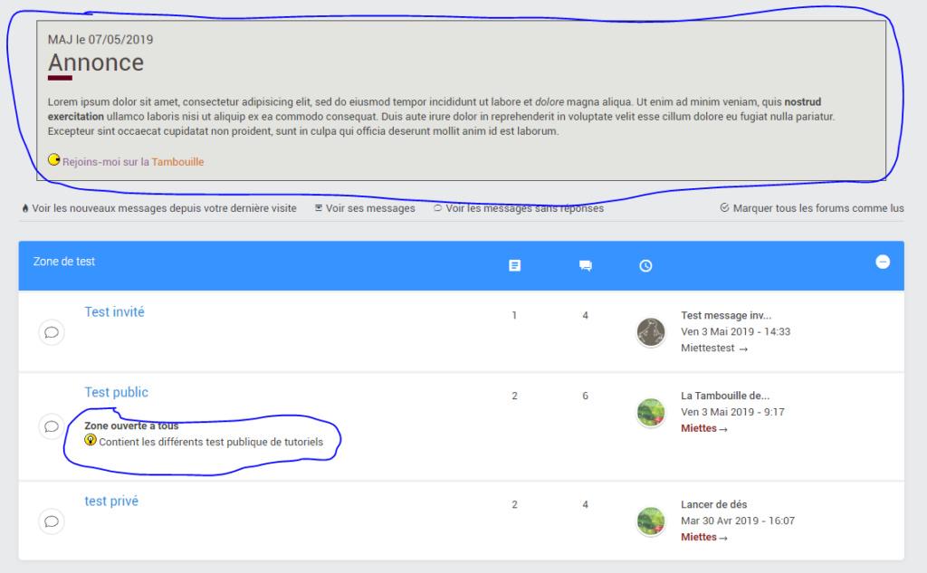 Modifier des éléments du forum sans être admin Affich10