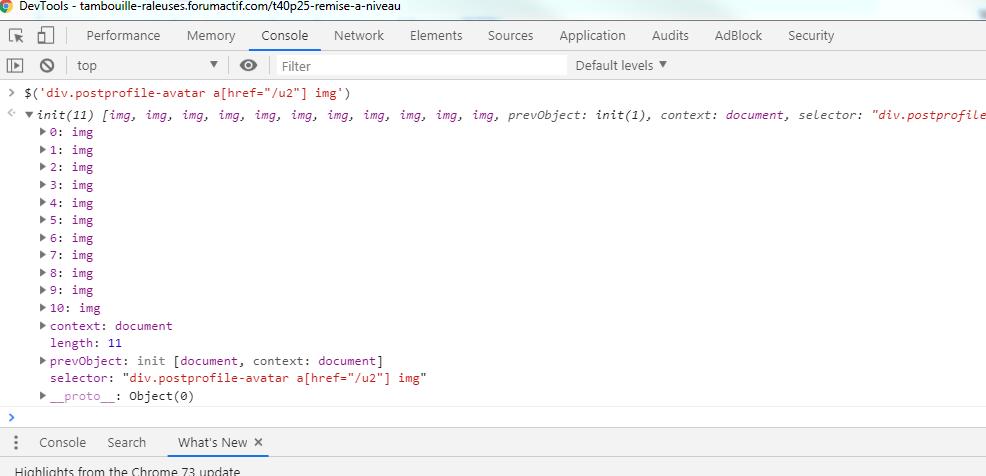 [JavaScript] Les bases du jQuery Consol10