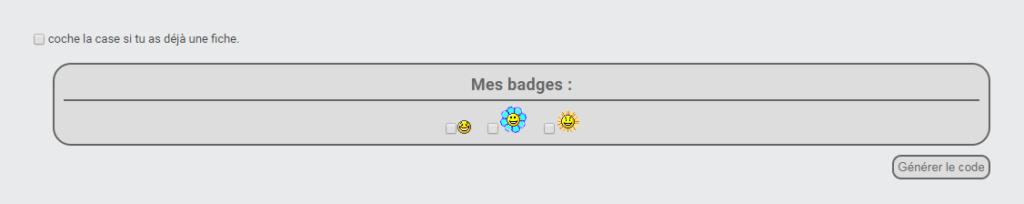Afficher une liste de badges sur le profil du membre Form-b10