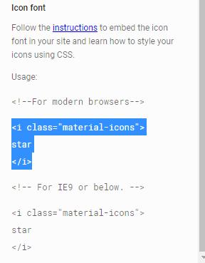 Utiliser des icônes de Material-Design Materi11